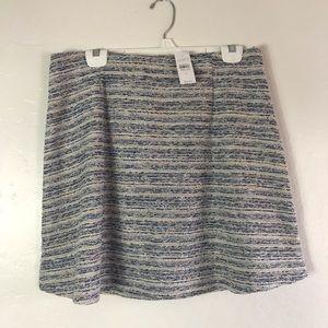 LOFT Skirts - Loft Periwinkle and Cream Specked Twead Skirt
